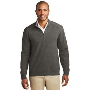 Port Authority® Men's Interlock 1/4-Zip Sweater