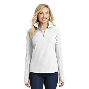 Port Authority® Ladies' Microfleece 1/2-Zip Pullover Sweater
