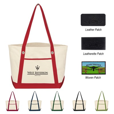 Medium Cotton Canvas Sailing Tote Bag