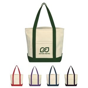 Small Heavy Cotton Canvas Boat Tote Bag