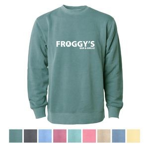 Independent Trading Company Unisex Midweight Pigment Dyed Crew Neck