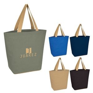 Marketplace Jute Tote Bag