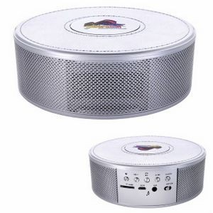 Good Value® Metallic Wireless Charging Clock Speaker