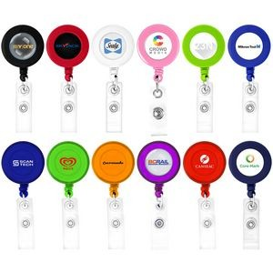 Round Shaped Retractable Badge Holder (Direct Import - 10 Weeks Ocean)